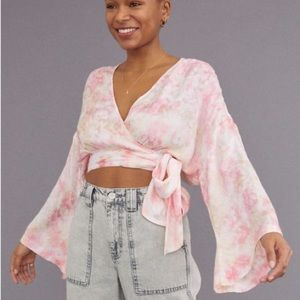 Brand New Urban Outfitters Cassandra Wrap Top